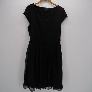 The Limited Black Pleated Sheath Dress Size S